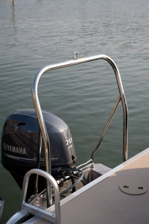 Sylvan pontoon boat ski tow bar installation