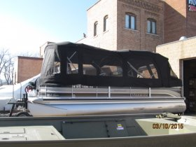 Used 2009  powered Premier Pontoons Boat for sale