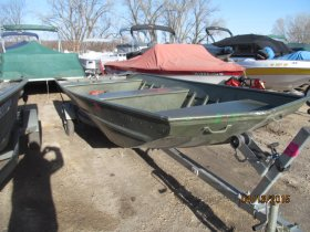 Pre-Owned 1997 Alumacraft 1648 jon w/ trailer Power Boat for sale