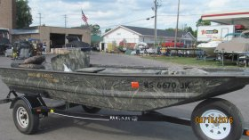 Used 2015 War Eagle Boats 548W/ 25hp ProDrive for sale